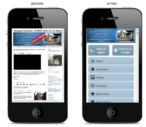 Social Property Selling makes your website mobile ready