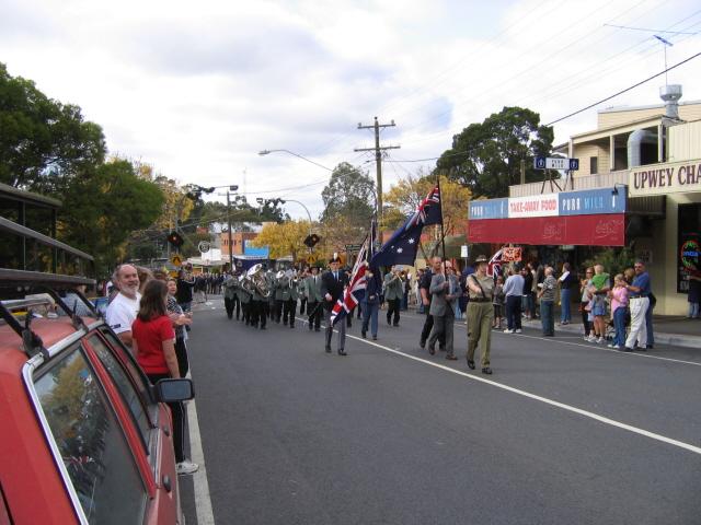 Upwey Anzac parade
